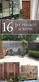 14 diy outdoor privacy screen ideas