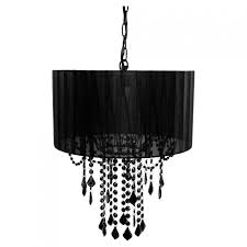 black chandelier shade with tadpoles 1 light cchash020 the home