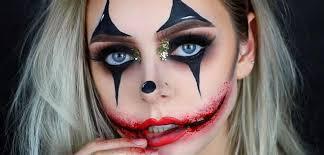 a creepy glamorous clown makeup tutorial