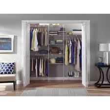 closetmaid closet organizer wardrobe storage rack w shoe shelf 5 8 inch white