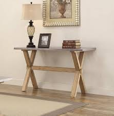 images zinc table top: homelegance luella sofa table weathered oak with zinc table top