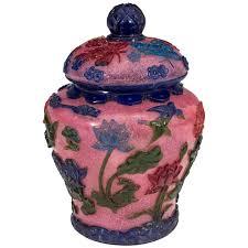 chinese late 19th century peking rose cut glass ginger jar