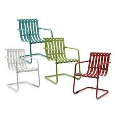 retro metal outdoor furniture. Wonderful Furniture Spring Chair Bounce Retro Bouncing Metal Patio Furniture With Regard To 19 And Outdoor