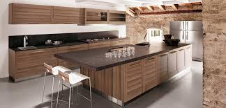 modern wood kitchen cabinets. Modern Wood Kitchen Cabinet With Dark Granite Countertop And Backsplash Also Built In Undermount Single Cabinets