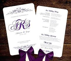 Microsoft Wedding Program Templates Wedding Program Templates Free Microsoft Word Fan Template Purple