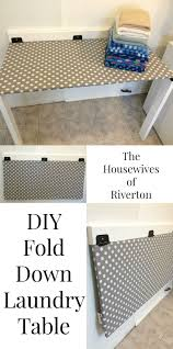 DIY Fold Down Laundry Table #SienteGlade #Ad @Glade |  www.housewivesofriverton.