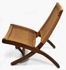 K Hans Wegner Style Wicker Folding Chair