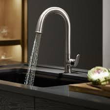 Touch Kitchen Sink Faucet Kitchen Faucets Premium Pullout Sprayer Kitchen Faucet In Satin