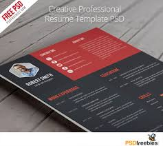Creative Professional Resume Template Free Psd Uxfree Com