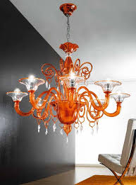 surprising murano glass chandelier 12 orange mll927k8