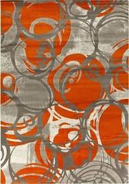 orange and gray rugs burnt grey