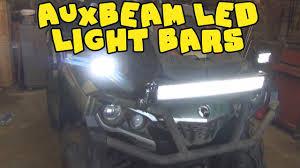 Best Atv Lights Atv Light Bar Instalation Auxbeam Led Light Bars On Can Am Outlander