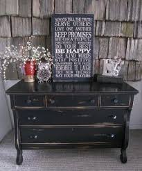 Black Distressed Empire Dresser With A Future Antique Black