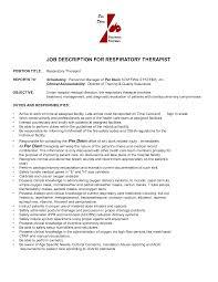 Respiratory Therapist Resume Objective Fancy Respiratory Therapist