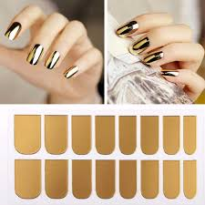 New Arrival Nail Art Stickers Gold Silver Black Full Cover Nail ...