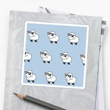 sheep sheets cool sheep in sunglasses baby blue background kid kids cute sheets