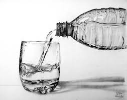 Still Life Plastic Bottle Pencil Drawing Water From A Bottle By Hannaasfour Realistic Pencil Drawings Still Life Sketch Pencil Art Drawings