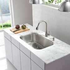 Kitchen Cabinet For Sink Decor White Kitchen Cabinet And Kraus Sink With Faucet Also