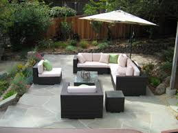 patio furniture ideas outdoor. Colored Wood Patio Furniture. Comfy L Shaped Sofa In Cream And Black Colors Facing Transparent Furniture Ideas Outdoor R