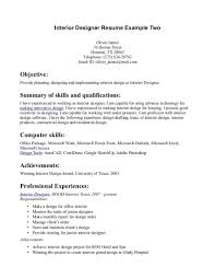 Professional Interior Design Resume Examples Perfect Interior