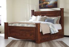 Poster Bedroom Furniture Buy Brittberg King Poster Bed With Under Bed Storage By Signature