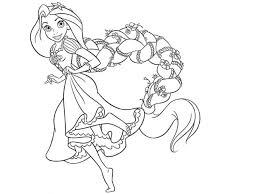 Small Picture Princess Rapunzel Has Long Hair Coloring Pages coloring