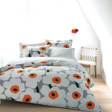 gray and orange bedding amazing cherry blossom cotton bedding sets in grey orange and within orange gray and orange bedding