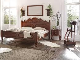 Details Zu Bett 180x200 Mahagoni Braun Kolonialstil Schlafzimmer Massivum Cambridge