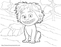 Small Picture The Good Dinosaur Coloring Pages Sheet Free Disney Printable The