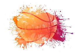 Backgrounds Basketball Basketball Ball In Watrcolor Isolated Stock Photo Colourbox