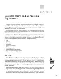 Chapter 9 - Business Terms And Concession Agreements | Resource ...