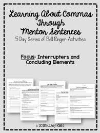 Teaching Commas Through Mentor Sentences Interrupters And