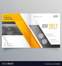 Stylish Bifold Booklet Template Design Cover Page