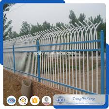 picket fence double gate. Galvanized Double Side Pointed Wrought Iron Fence Steel Fencing Powder Coating Picket Gate G