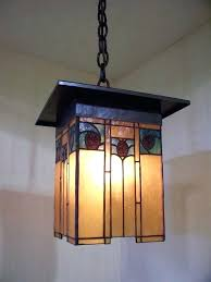 craftsman style chandeliers arts and crafts style lantern with hammered copper and art glass craftsman home
