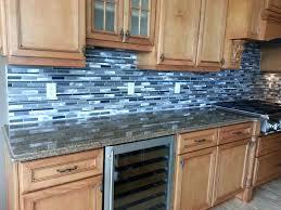 blue kitchen backsplash dark cabinets. Blue Backsplash Good Glass Tile With Dark Cabinets Kitchen G