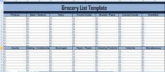 grocery checklist template grocery checklist template excel filename purdue sopms
