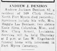 A J Dennison obituary - Newspapers.com