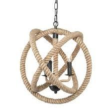 rope orb chandelier blvd 3 light rope orb pendant lamp