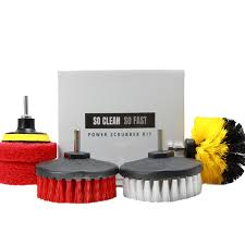 power scrubber set drill brushes scouring pads clean hard water stains 5x faster for tile grout rim corner floor carpet glass doors