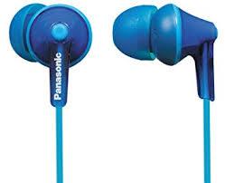 <b>Panasonic RP</b>-<b>HJE125</b> Ergo Fit In-<b>Ear Headphone</b> - Blue: Amazon ...