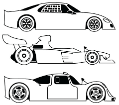 Car Coloring Page Three Different Race Car Coloring Page Free