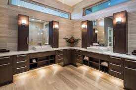 double vanity with upper cabinets