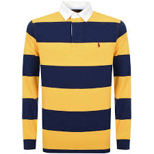 ralph lauren long sleeve polo t shirt yellow