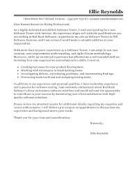 Cover Letter Requirements Vs Experience Best Software Testing Cover