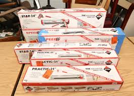 item 114 six rubi tile cutters incl two practic 21 21 rip cut 16 x16 diagonal cut two star 24 24 rip cut 18 x18 diagonal cut two sd 26 26