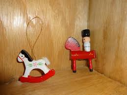 vintage taiwan rocking horse solr tree ornament wood wooden