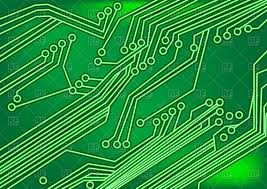 Circuit Board Green Background Vector Illustration Of Backgrounds