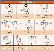 Baseball Signals Chart Rit Ntid Dummy Hoy Lobby Display
