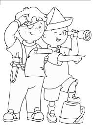 Small Picture Caillou coloring pages playing with leo ColoringStar